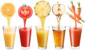 Соки фруктовые и овощные