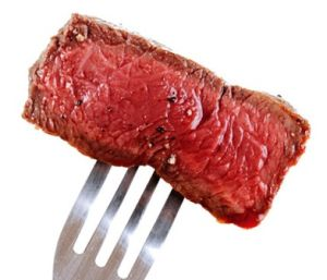 Мясо на вилке