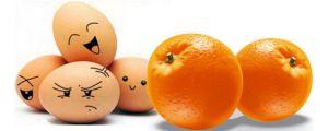 Яйцо с фруктами