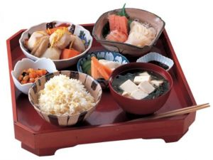 Сервировка для японской диеты