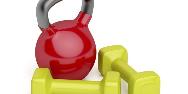 комплекс упражнений с гантелями и гирями