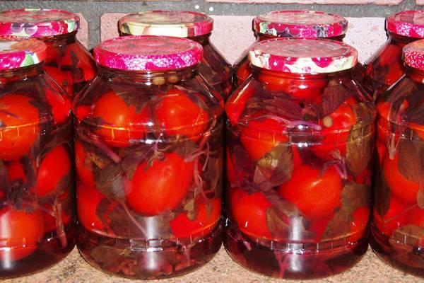 помидоры с пряностью на зиму