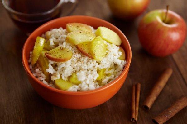 рисовая каша с яблоком
