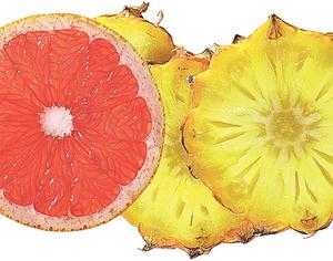 Ананас и грейпфрут