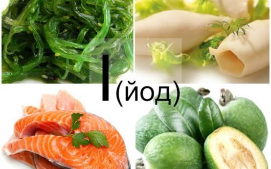 В каких продуктах содержится йод: полный список и таблица