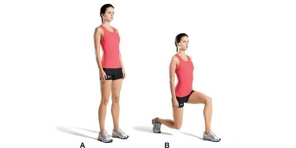 выпады для тренировки спины