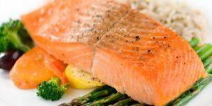 диетический стейк из лосося