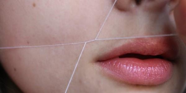 как удалить усы на лице с помощью нити