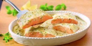 Рыба под сливочным соусом