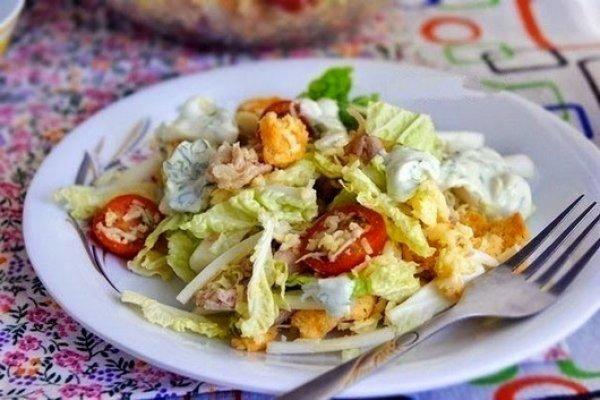салат из филе и пекинской капусты
