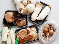 Разные сорта грибов
